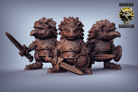 Hedgehogs with Sword and Shield