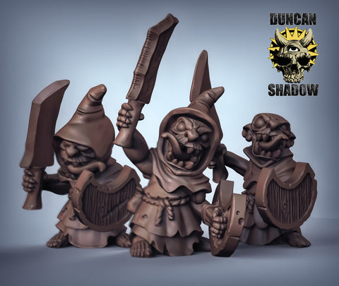 Goblins with Sword and Shield (hooded)