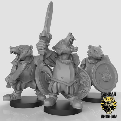 Badger Mercs with Sword and Shield