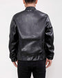 UTILITY POCKET VEGAN LEATHER JACKET