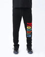 BIG AND TALL MOBBIN SWEAT PANT-COLOR: BLACK