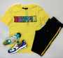 DRIPPIN VARSITY S/S SHIRT-COLOR: YELLOW