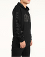 ACDC BACK IN BLACK STONES HOODY