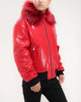 Croco Bomber Fur Collar