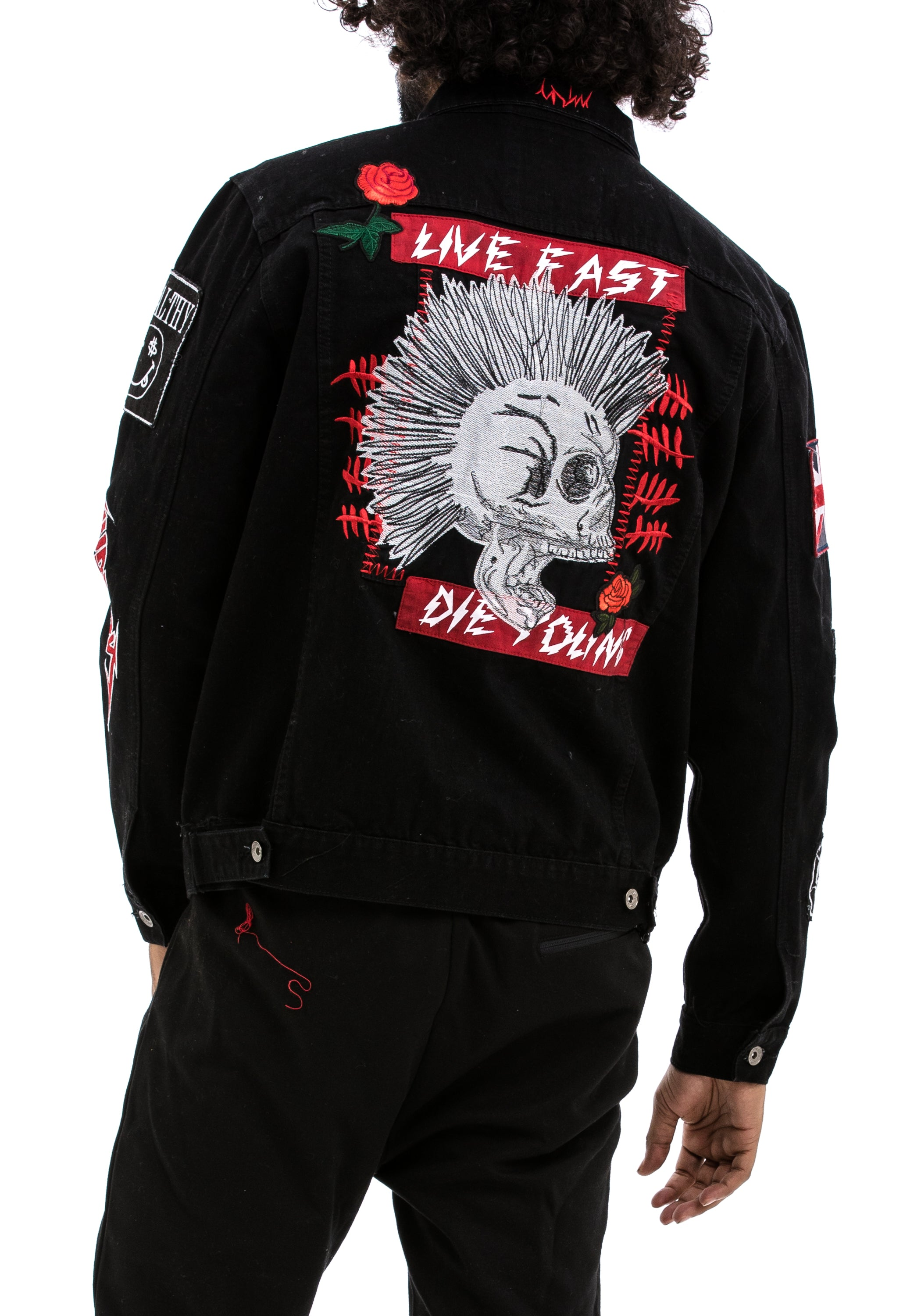 Very Live Fast Die Young Denim Jacket | Hudson Outerwear DG03