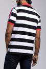 TWIN BIRD STRIPED POLO SHIRT