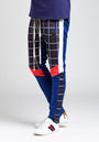 PIECED GLEN PLAID TRACK PANT