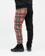 PLAID SHARKMOUTH SWEAT PANT