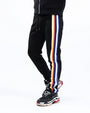 JEFFREY STRIPE TRACK PANT-COLOR: BLACK