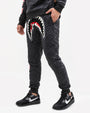 QUILTED SHARKMOUTH PANTS