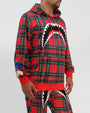 SHARKMOUTH PLAID HOODIE