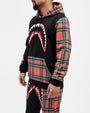 PLAID SHARKMOUTH HOODY