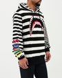 MULTI STRIPE SHARKMOUTH HOODY