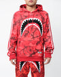 CAMO SHARK MOUTH HOODY-COLOR: RED