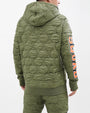 QUILTED SHARKMOUTH PULLOVER HOODY