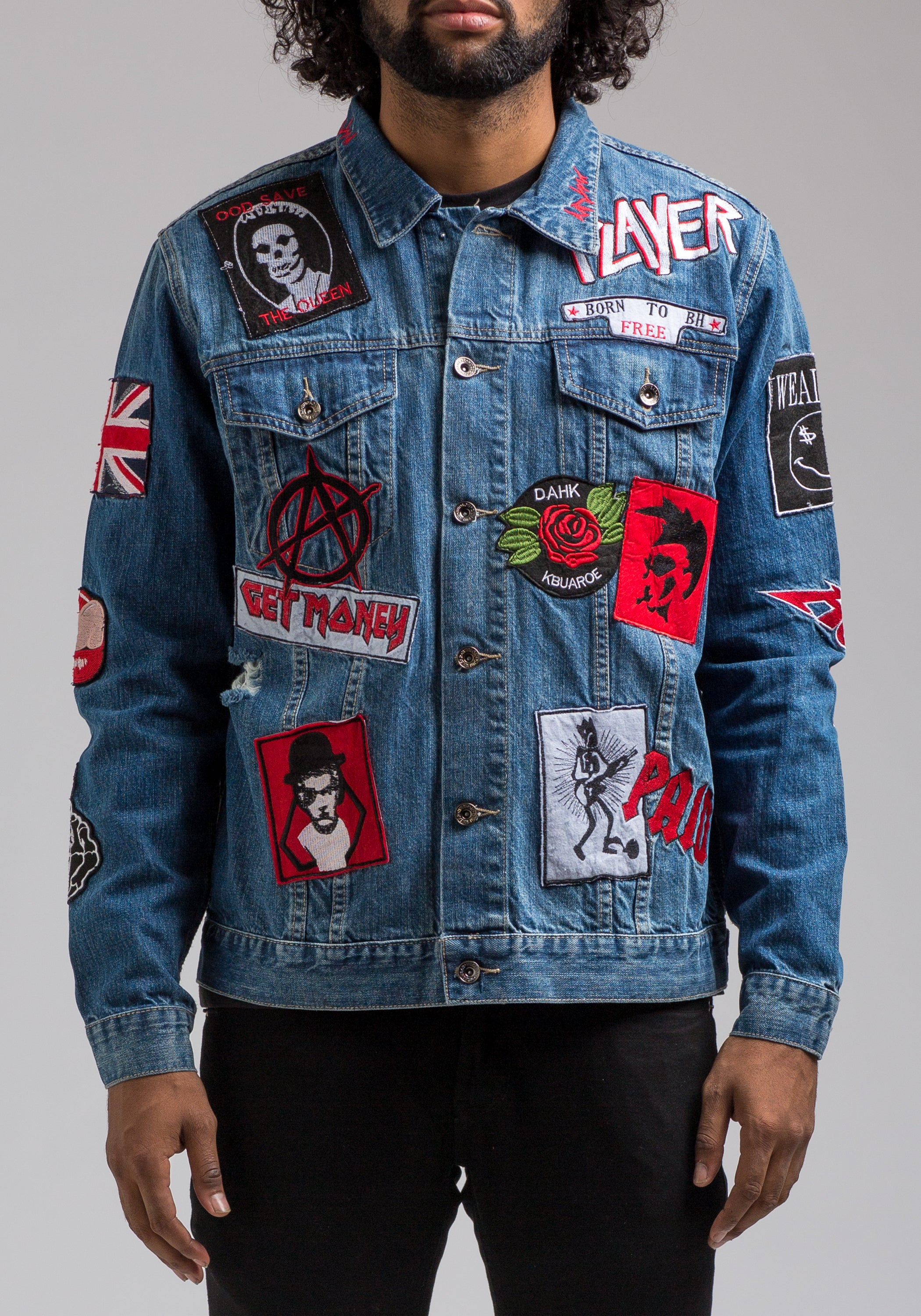 Brand-new Live Fast Die Young Denim Jacket | Hudson Outerwear BC04