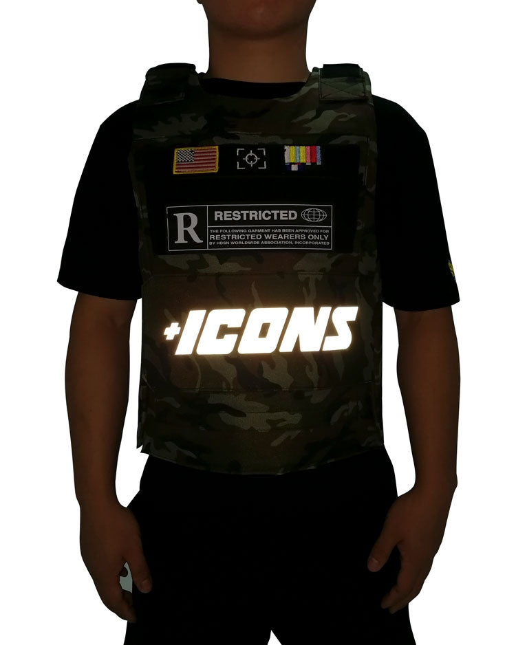 "Hudson Outerwear Camouflage /""Icons/"" Reflective Vest"