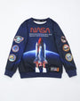 NASA SPACESHIP CREWNECK-color: blue