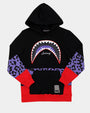 KIDS SHARK MOUTH LEOPARD HOOD