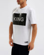 KING BLING SHIRT-COLOR: WHITE