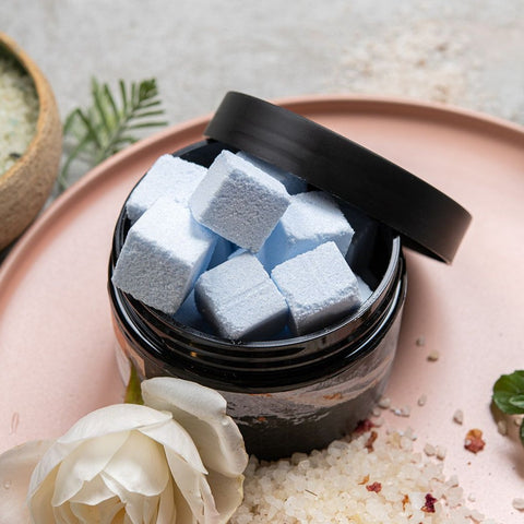 Image of Body Scrub Cubes - Geranium, Lavender & Rose