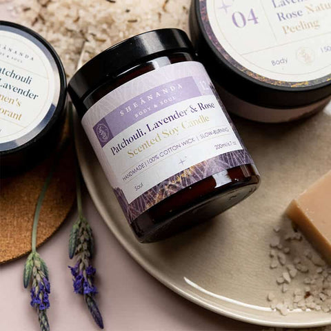 Image of Lavender-Patchouli-Scented-Candle