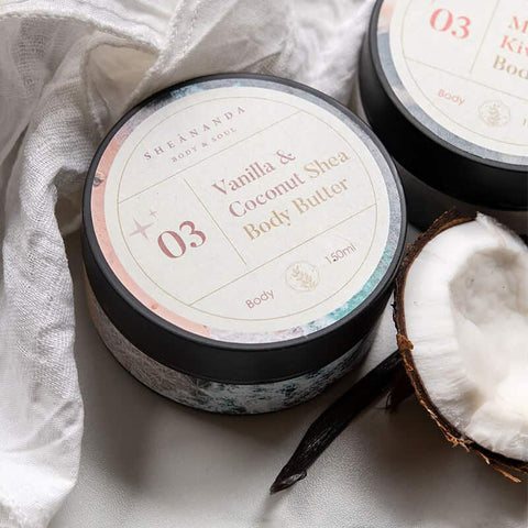 Vanilla & Coconut Body Butter: Shea Butter, Olive Oil, Cocoa Butter & Coconut Oil