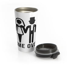Load image into Gallery viewer, Game Over Graphic Print Stainless Steel Travel Coffee Mug For Women With Wrap Lead And Stainless Steel Interior