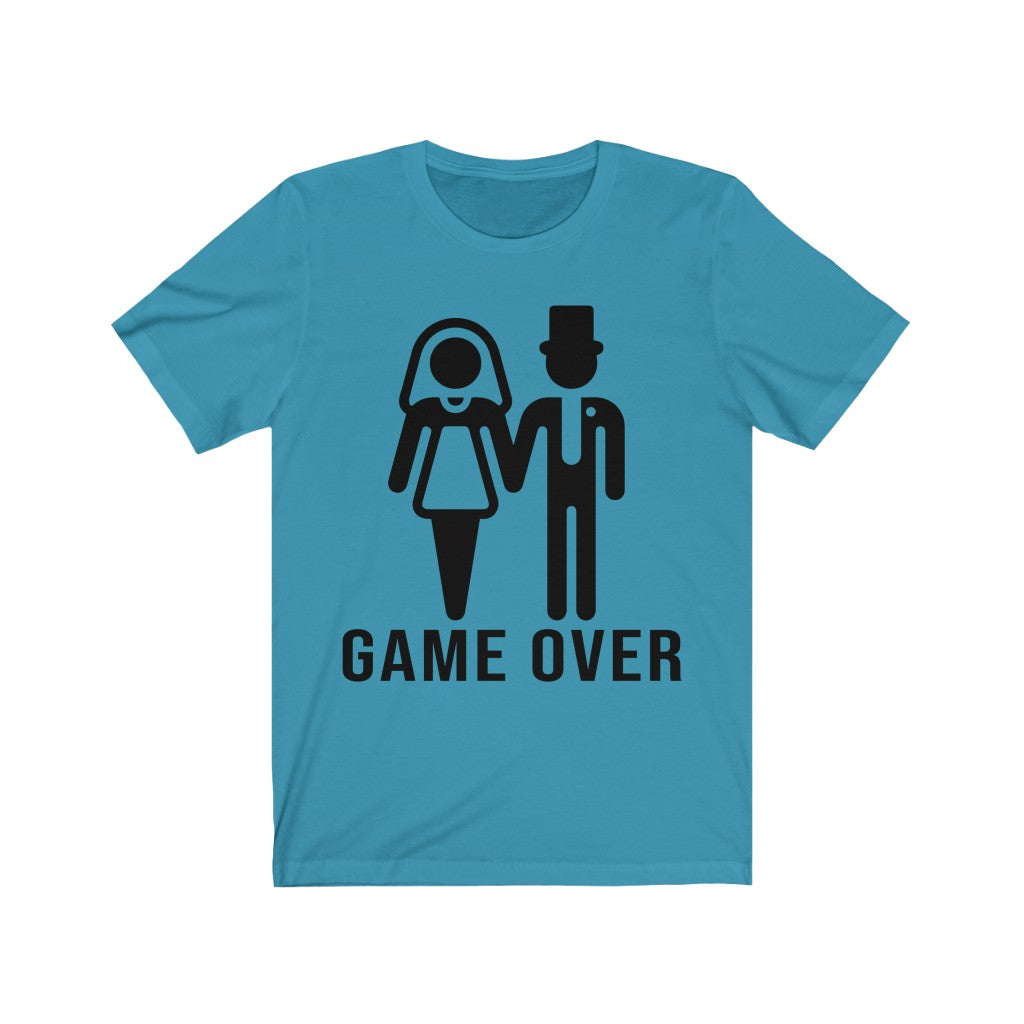Game Over Funny Wedding Announcement Engagement Party Men And Women T-shirt