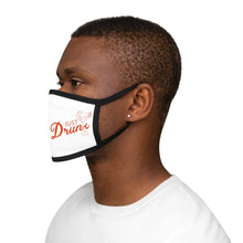 Load image into Gallery viewer, Just Drunk Graphic Labelled Design Unisex Fabric Reusable Facemask For Bride And Groom 100% Cotton Inside Mixed Print And White Color