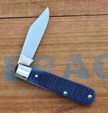 Load image into Gallery viewer, Blue Rope Jigged Bone Single Clip Blade Knife