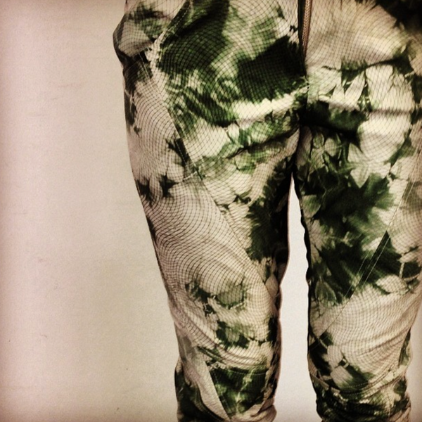 Laser Cut Leather Trousers Made By Samantha Bartle