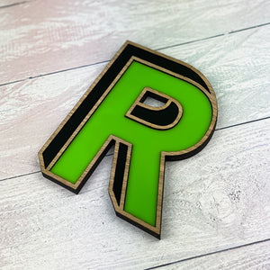 Colourful 3D Effect Letter Sign - Lime Zest
