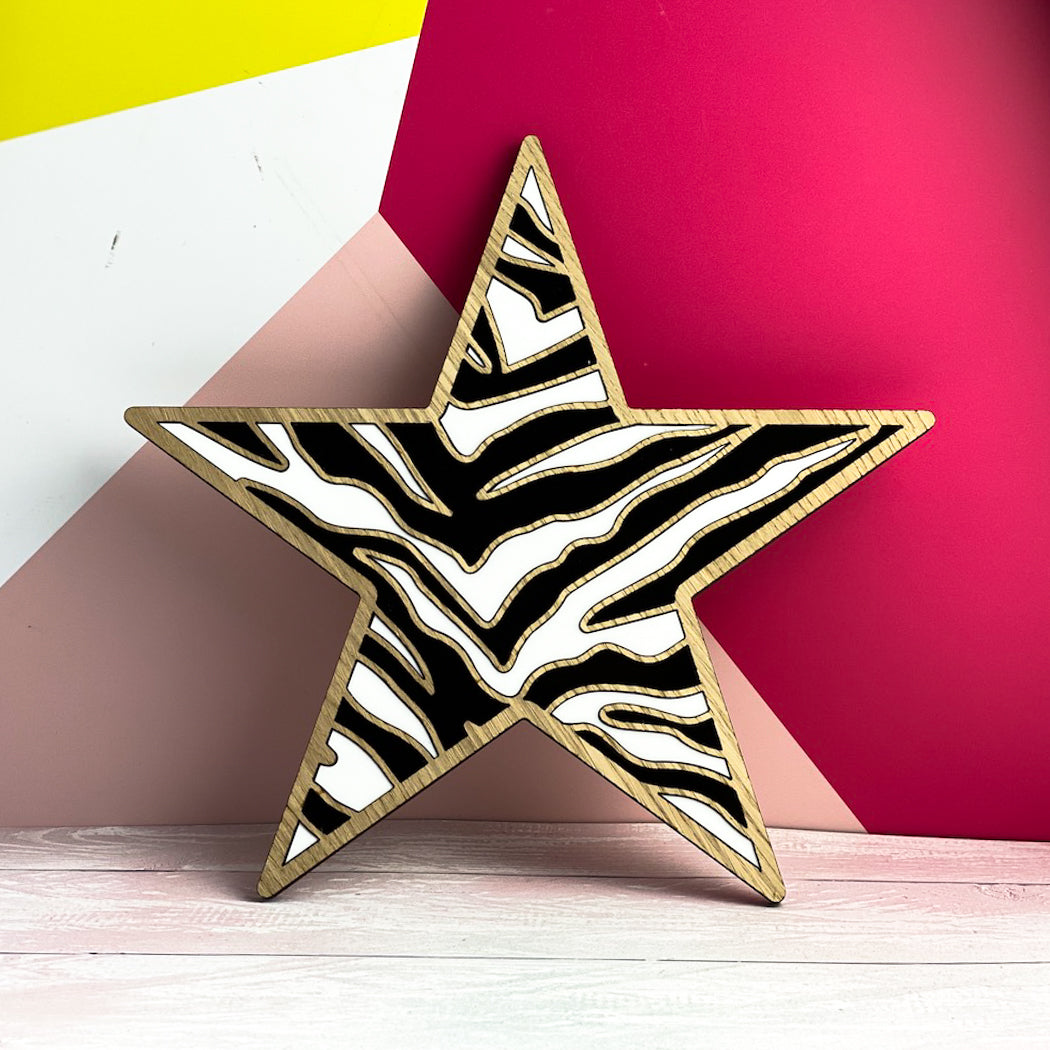 Large Star With Zebra Pattern