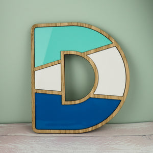 Alphabet Letter Sign With Three Colours