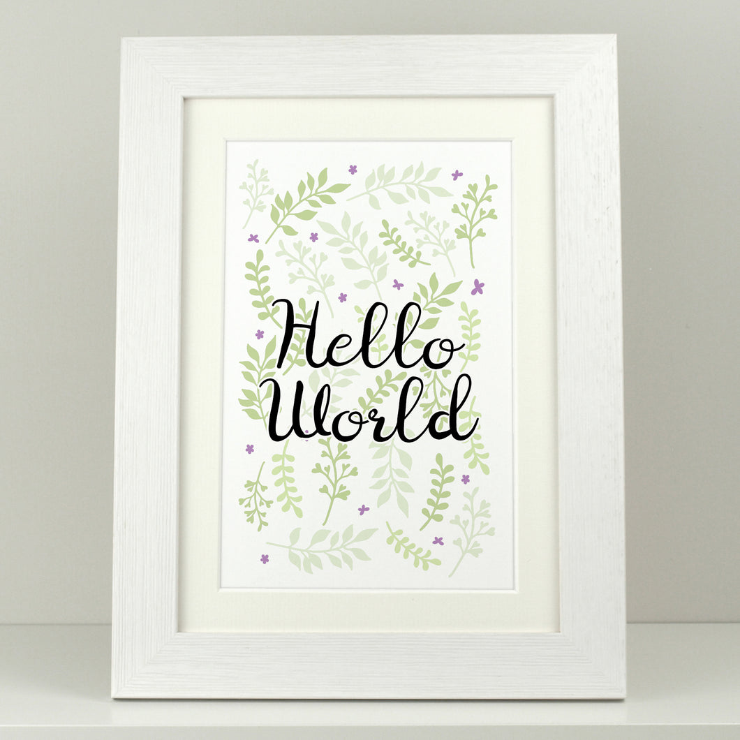 Nursery Print 'Hello World'