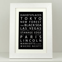 Load image into Gallery viewer, Personalised Destinations Print