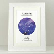 Load image into Gallery viewer, Personalised Star Sign Print