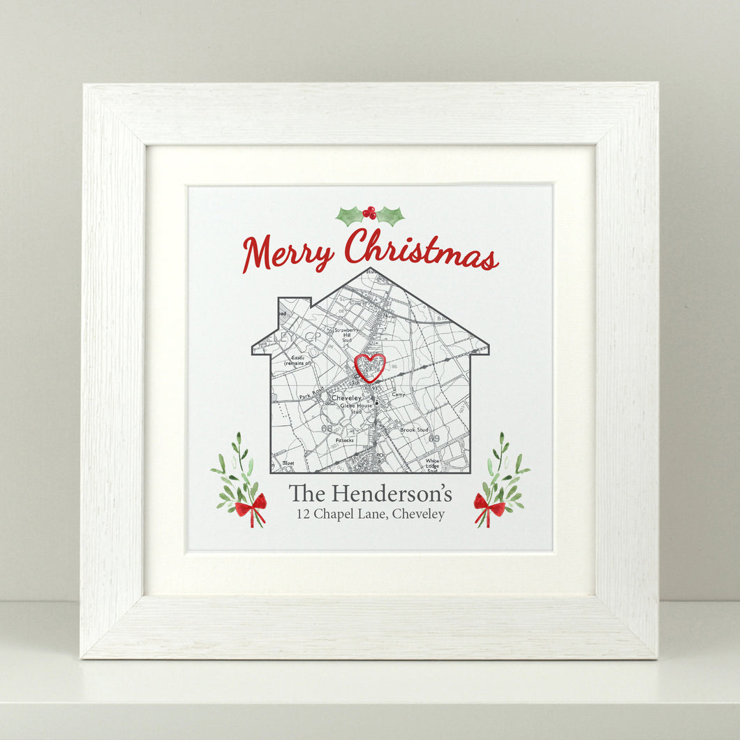 Personalised Christmas House Map