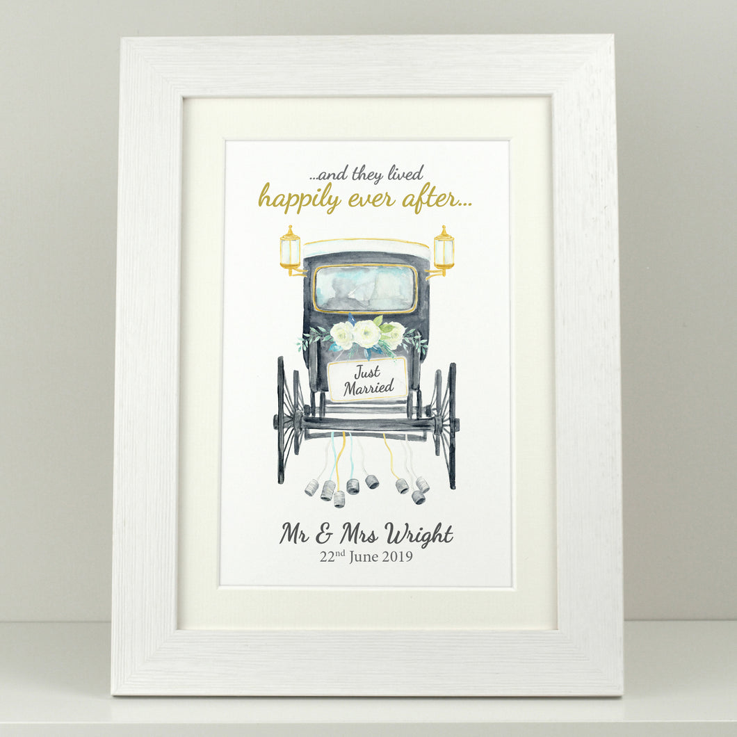 Personalised Just Married Carriage