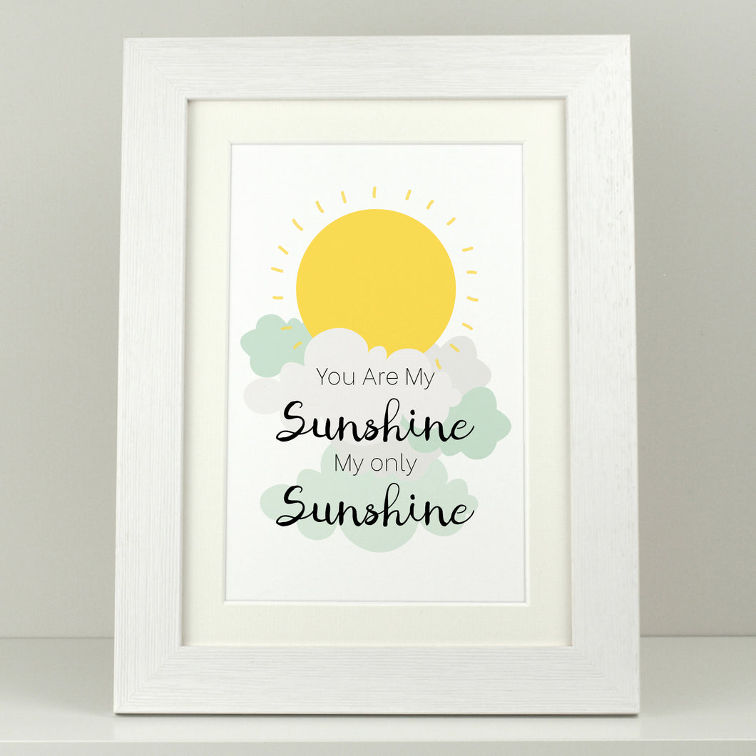 Nursery Print 'You Are My Sunshine'
