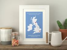 Load image into Gallery viewer, Personalised Friends Apart UK Print