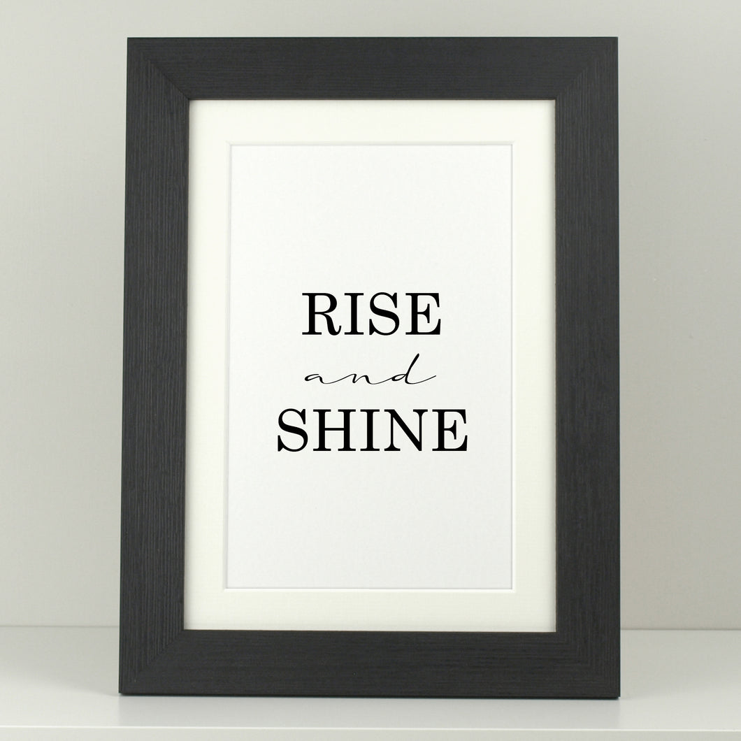 Bedroom Print 'Rise and Shine'
