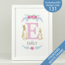 Load image into Gallery viewer, Personalised A is for.... rabbit print