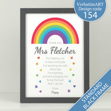 Load image into Gallery viewer, Personalised Rainbow Teacher