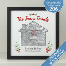 Load image into Gallery viewer, Personalised Christmas House Map