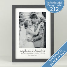 Load image into Gallery viewer, Personalised Wedding Photo