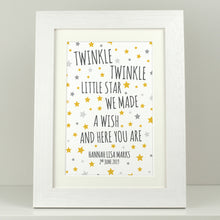 Load image into Gallery viewer, Personalised New Baby Gift / Twinkle Twinkle Little Star
