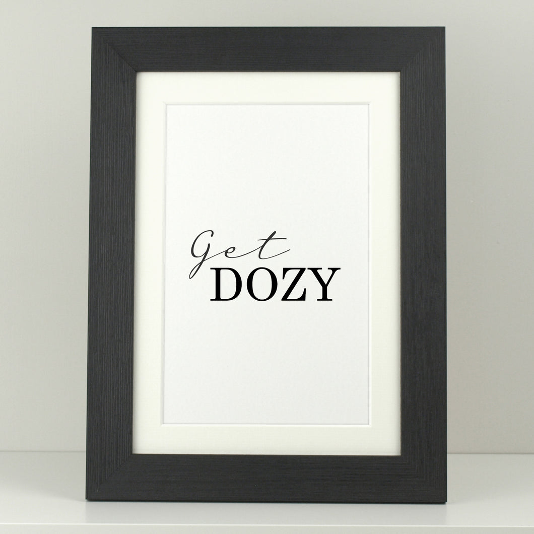 Bedroom Print 'Get Dozy'