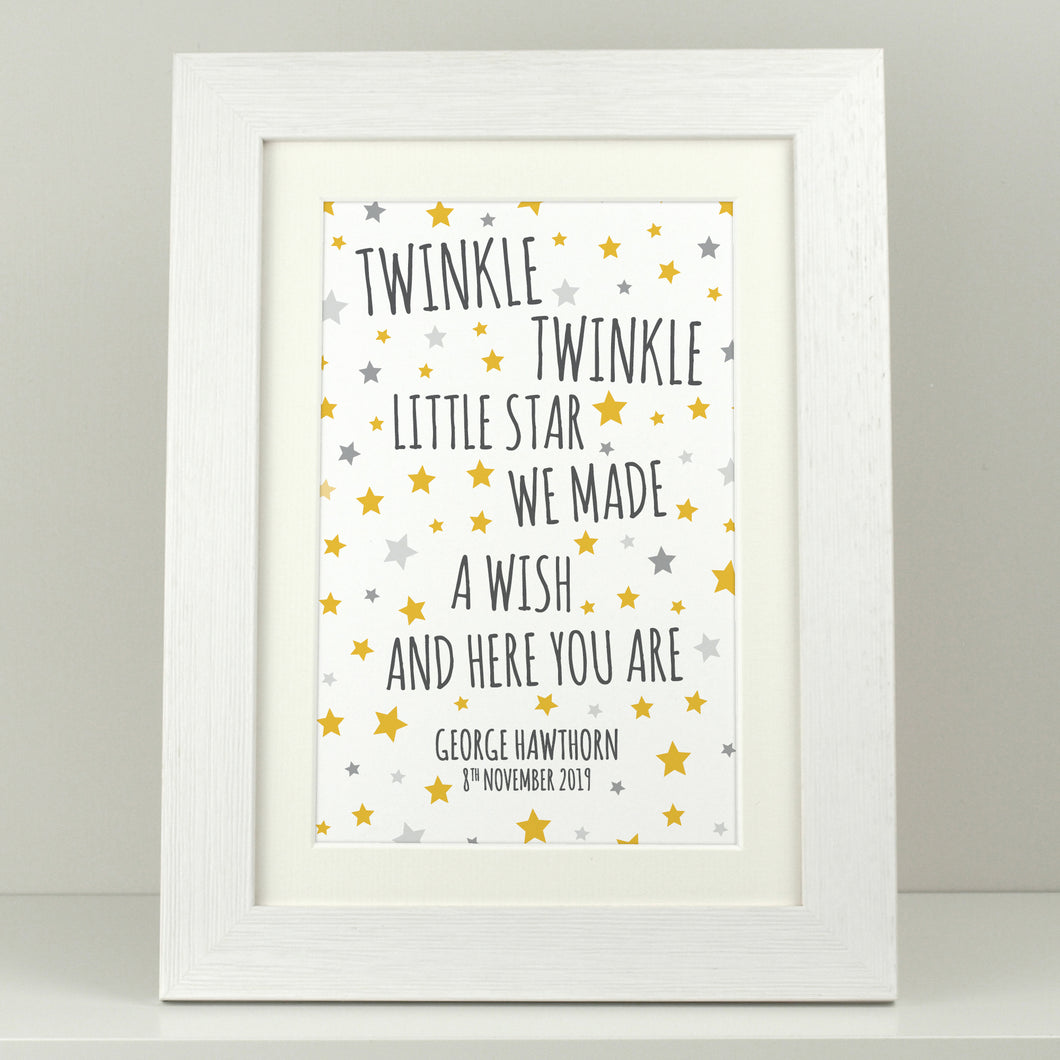 Personalised New Baby Gift / Twinkle Twinkle Little Star